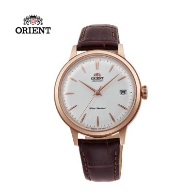 ORIENT 東方錶 DATEⅡ系列 機械錶 皮帶款 玫瑰金色 RA-AC0010S