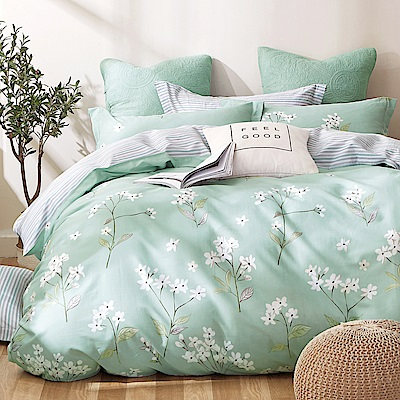 Ania Casa 錦繡花期 加大三件式 100%精梳棉 台灣製 床包枕套純棉三件組