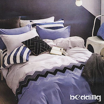 BEDDING-活性印染6尺雙人加大薄床包三件組-卡迪樂
