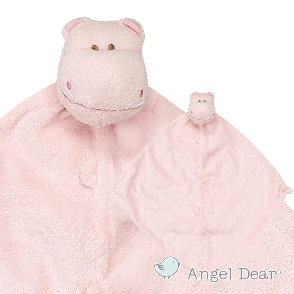 Angel Dear 動物嬰兒安撫巾 (粉紅河馬)