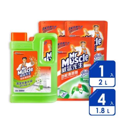 威猛先生 地板清潔劑2Lx1+1.8Lx4(清新早晨)