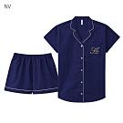aimerfeel 短袖襯衫成套睡衣-海軍藍 -823266-NV