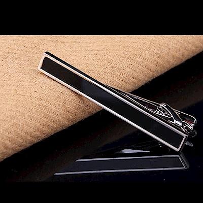 拉福   黑銀造型6CM高檔領帶夾領夾(附盒)