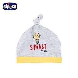 chicco-小燈泡-打結嬰兒帽-黃燈泡
