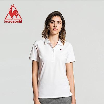 le coq sportif 法國公雞牌經典多色復古短袖POLO衫 女-白