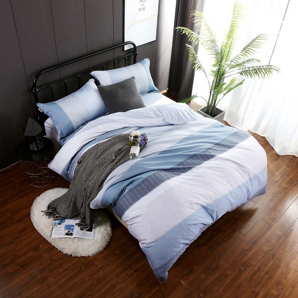 夢工場 美麗思念40支紗天柔絲兩用被床包組-加大