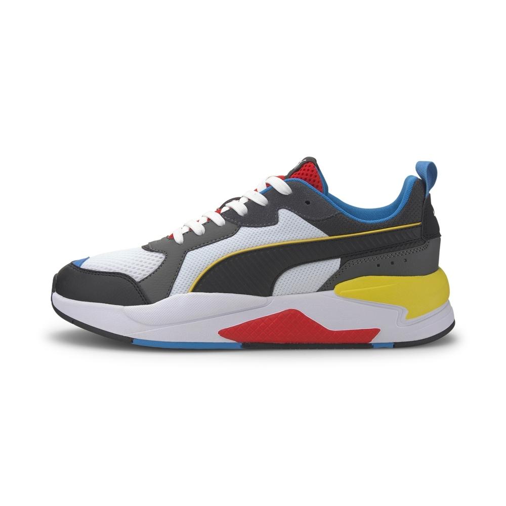 PUMA-X-Ray 男性復古慢跑運動鞋-白灰