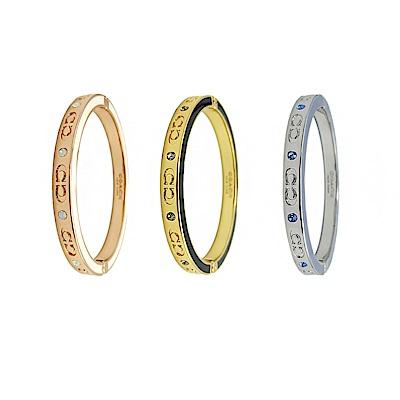 COACH 時尚高質感雙色C字樣手環