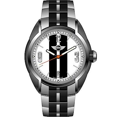 MINI Swiss Watches休閒運動腕錶(MINI-77)-白x黑/38mm