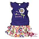 【天使霓裳-童裝】可愛花朵 兒童背心短裙兩件組套裝(藍紫)