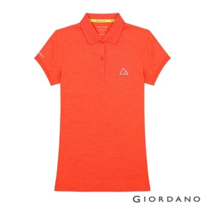 GIORDANO 女裝G-MOTION透氣排汗運動POLO衫-09 錦鯉橙