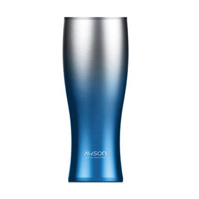 AWSON 不鏽鋼雙層冰熱真空保溫杯460ml(ASM65)-藍色(不結露)