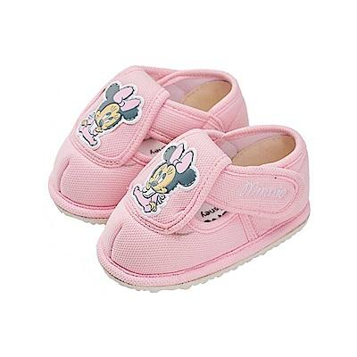 迪士尼 米妮 可愛baby造型 寶寶學步鞋-粉