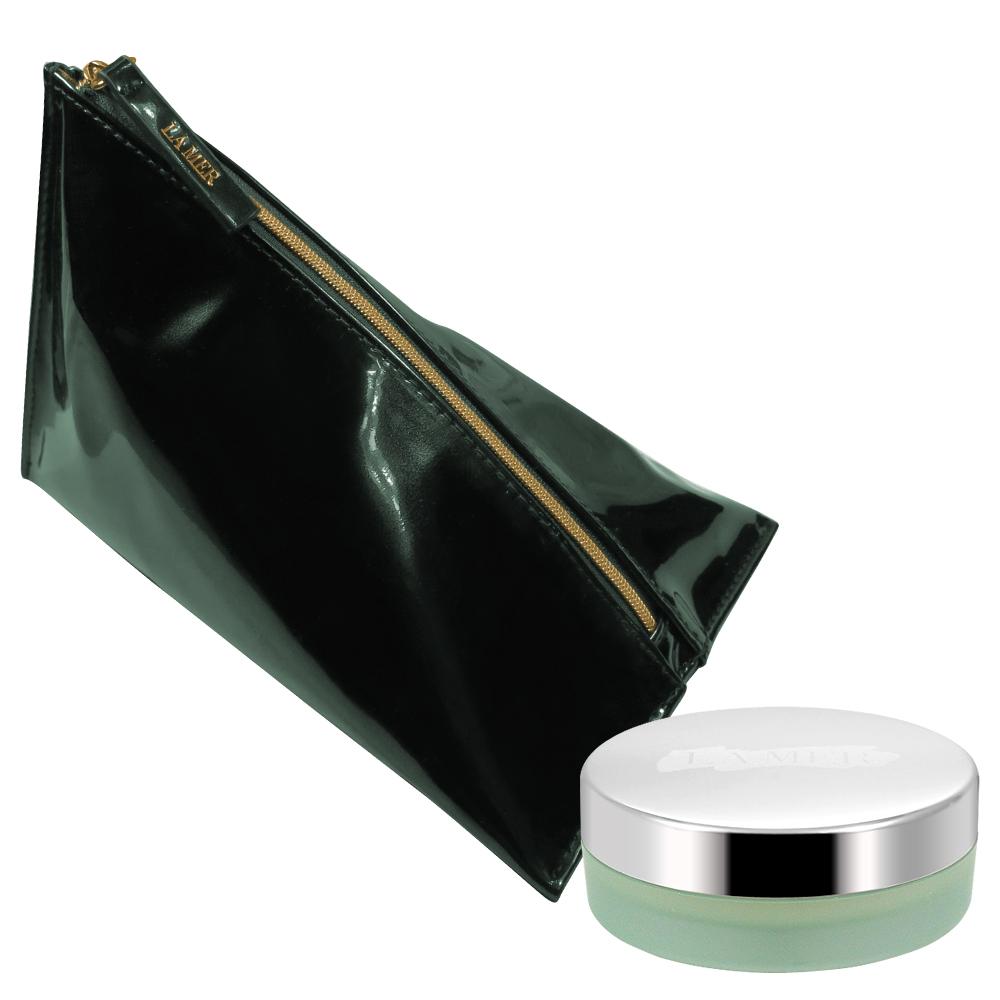 LA MER 海洋拉娜 修護唇霜(9g)(無盒版)+三角立體銅綠美妝包