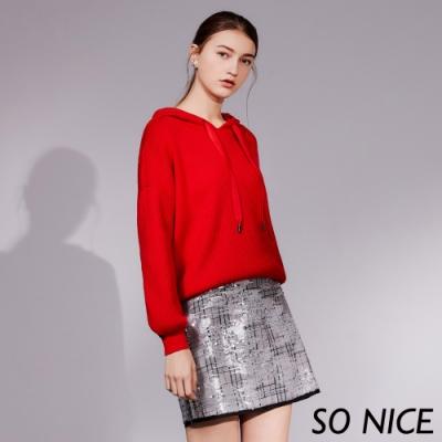 SO NICE派對風閃耀亮片格紋窄裙