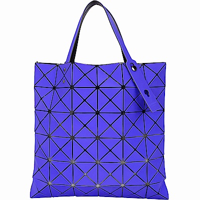 ISSEY MIYAKE 三宅一生 BAOBAO 6x6 泰絲霧面幾何手提托特包(紫光藍)