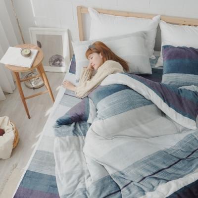 BUHO 極柔暖法蘭絨雙人床包三件組(夜調旅人)