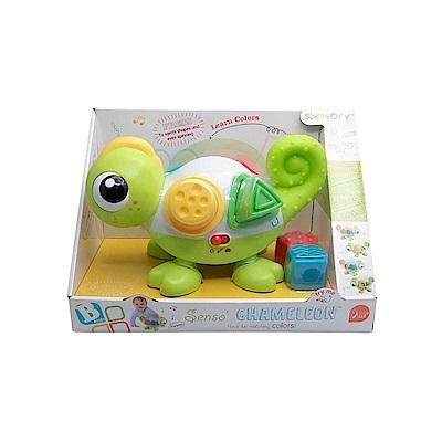 美國 Infantino  早教益智玩具 聲光變色龍推拉玩具