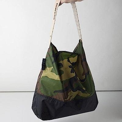 可收納式時尚托特包 (肩背雙色版) 迷彩/黑