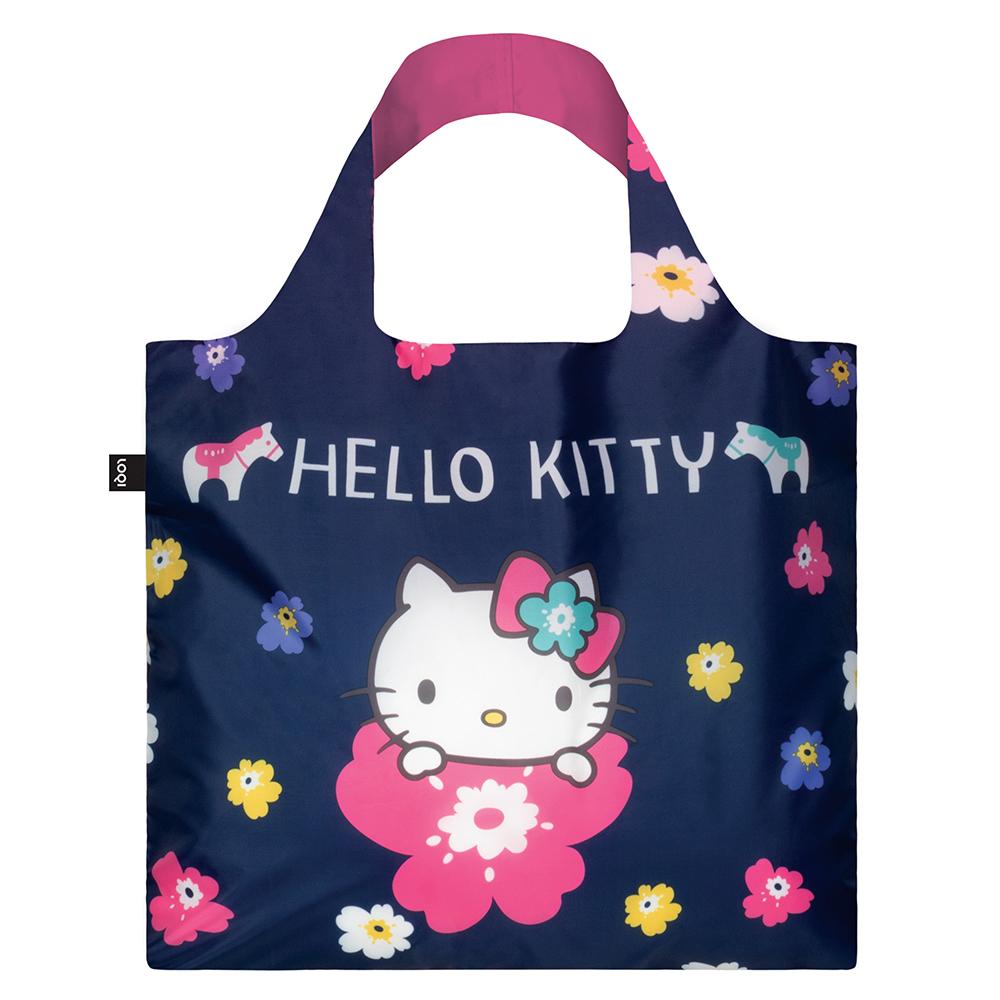 LOQI 購物袋-三麗鷗授權 (Hello Kitty 北歐深藍 KT11)