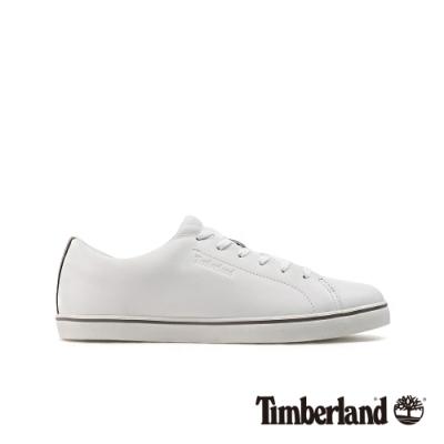 Timberland 男款白色全粒面革牛津休閒鞋|A23QH
