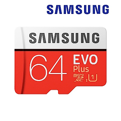 三星Samsung EVO Plus microSDXC 64GB 高速記憶卡-公司貨