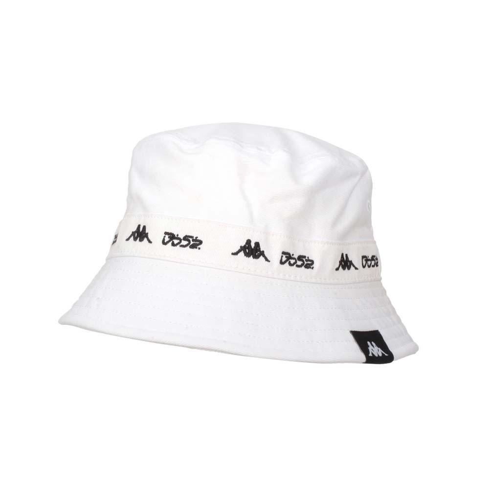 KAPPA DD52聯名漁夫帽-遮陽 防曬 帽子 菱格世代 純棉 351462W-001 白黑