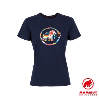 【Mammut 長毛象】Nations T-Shirt Men 世界LOGO短袖上衣 女款 藏青 #1017-02230