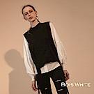 Bois White-設計款針織背心-黑