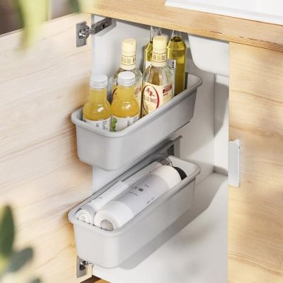 無痕貼推拉式櫥櫃抽屜收納盒