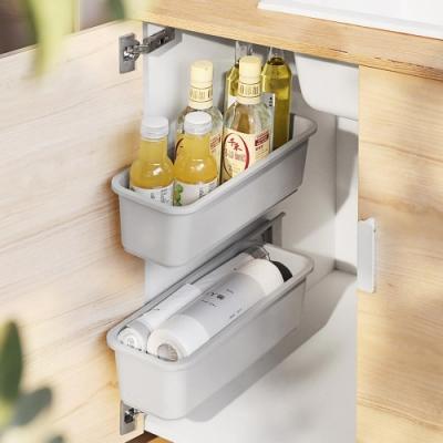 (買一送一)無痕貼推拉式櫥櫃抽屜收納盒