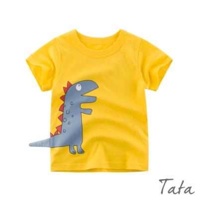兒童 撞色恐龍上衣 共二色 TATA KIDS