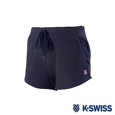 K-Swiss Logo Sweatshorts棉質短褲-女-黑