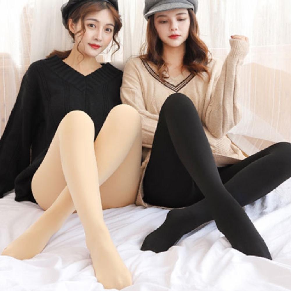 【JS嚴選】長纖雪絨加厚刷毛褲襪