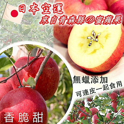 彩水果 日本紅皮蜜蘋果(9顆/箱)