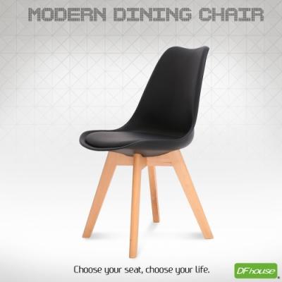 DFhouse翻糖造型餐椅-黑色  48*48*85