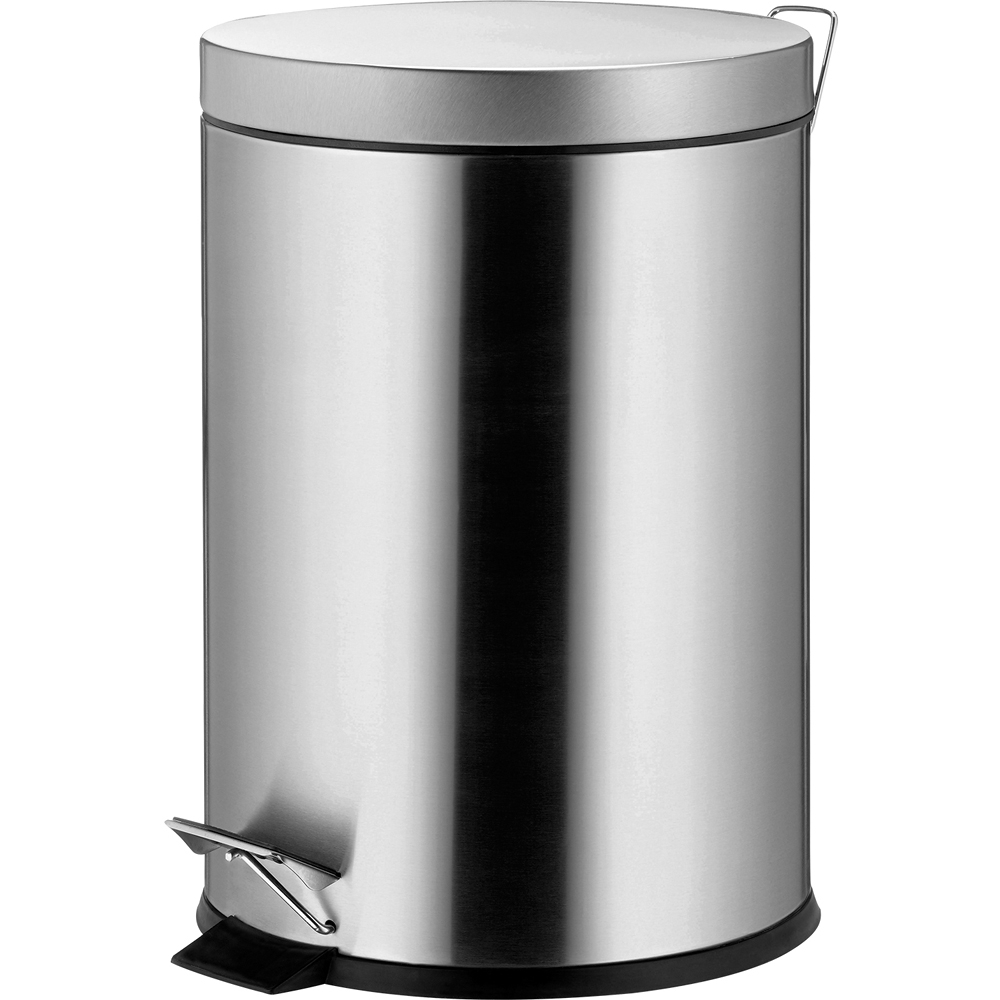 《KELA》Janos腳踏式垃圾桶(霧銀5L)