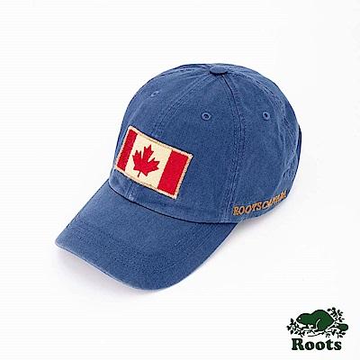 Roots配件- 復古國旗棒球帽-藍