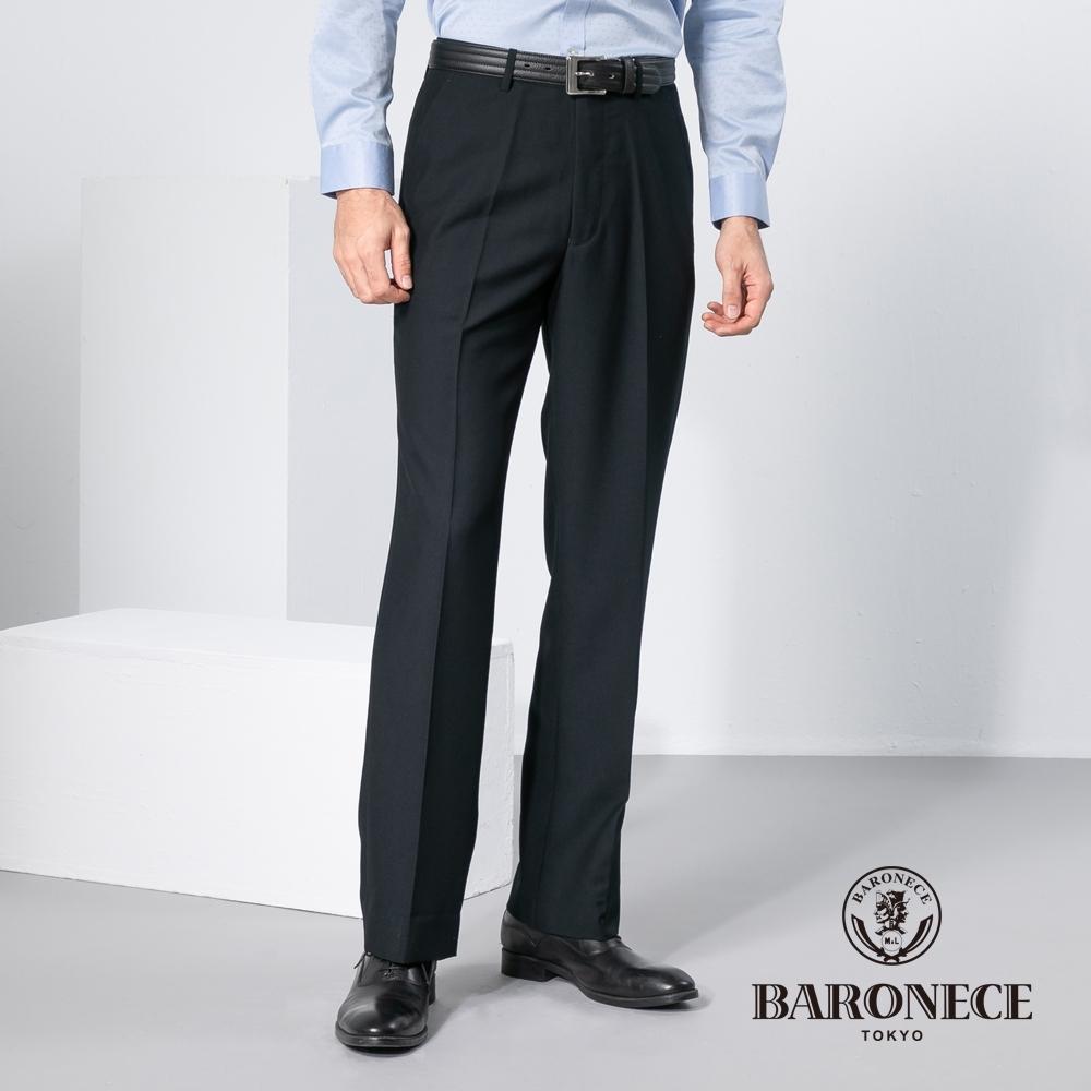 BARONECE 百諾禮士休閒商務  男裝 簡約舒適平口休閒西裝褲-丈青色(1198844-38)