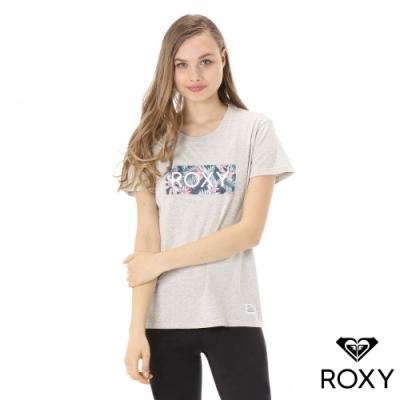 【ROXY】BOTANICAL HEALING ROXY 純棉T恤 灰