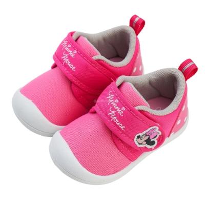 迪士尼童鞋  米妮  造型魔鬼氈寶寶鞋-桃