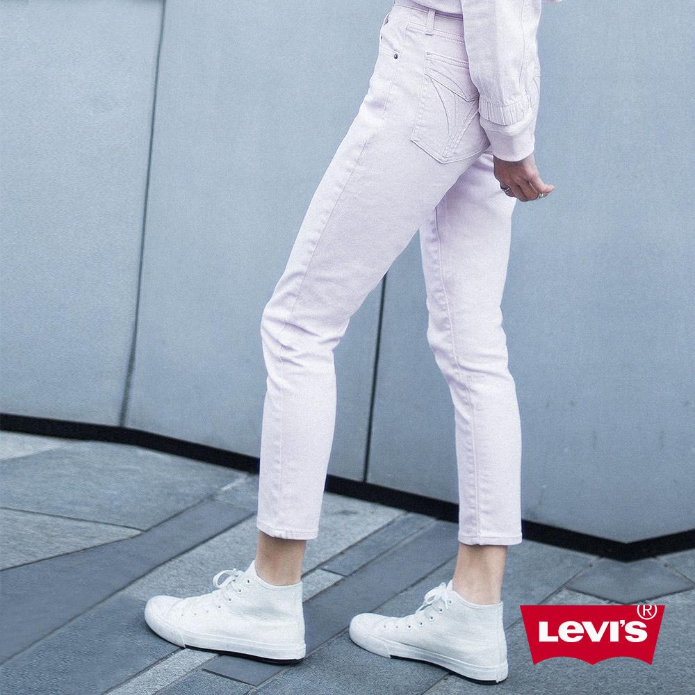 Levis 女款 501 Skinny 高腰排釦牛仔長褲 不收邊 彈性布料