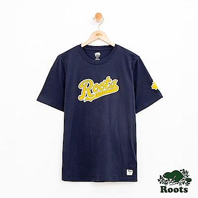 男裝Roots 原創短袖T恤-藍