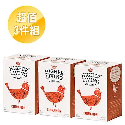 英國HIGHER LIVING 熱戀肉桂有機茶包3件組(33gx3盒)