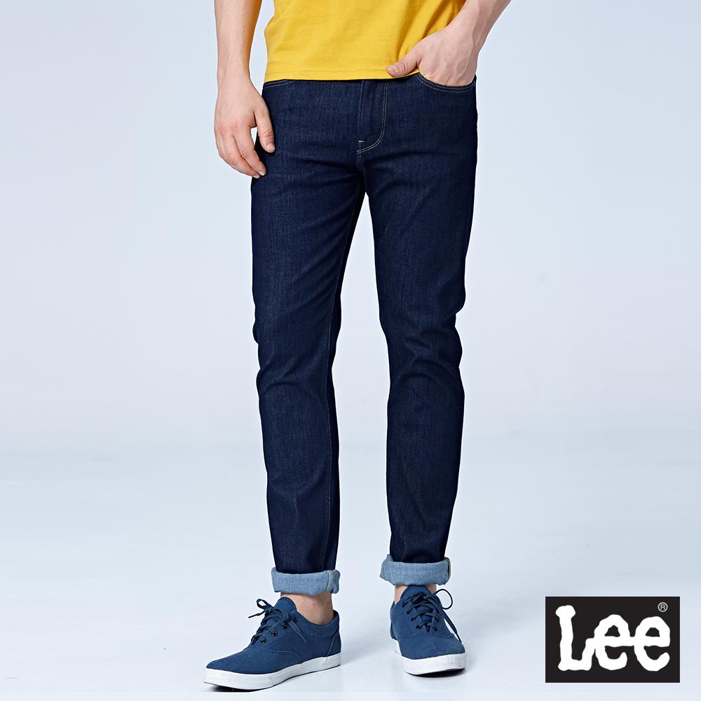 Lee 706低腰合身窄管牛仔褲/RG-深藍色