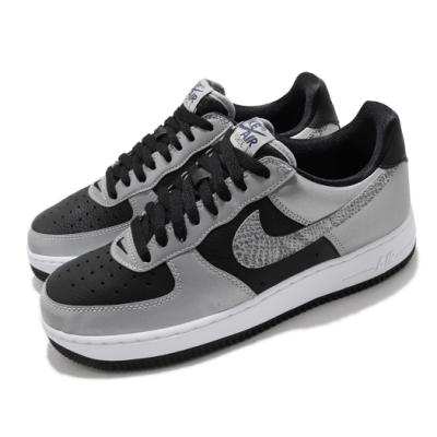 Nike 休閒鞋 Air Force 1 運動 男鞋 經典款 復刻 AF1 反光 穿搭 銀蛇 黑 銀 DJ6033001