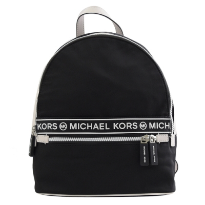 MICHAEL KORS KENLY尼龍logo休閒拉鍊後背包(小/黑)