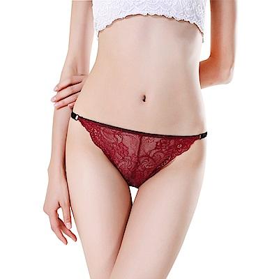 JoyNa透明蕾絲性感情趣內褲 無痕低腰三角褲-3件入