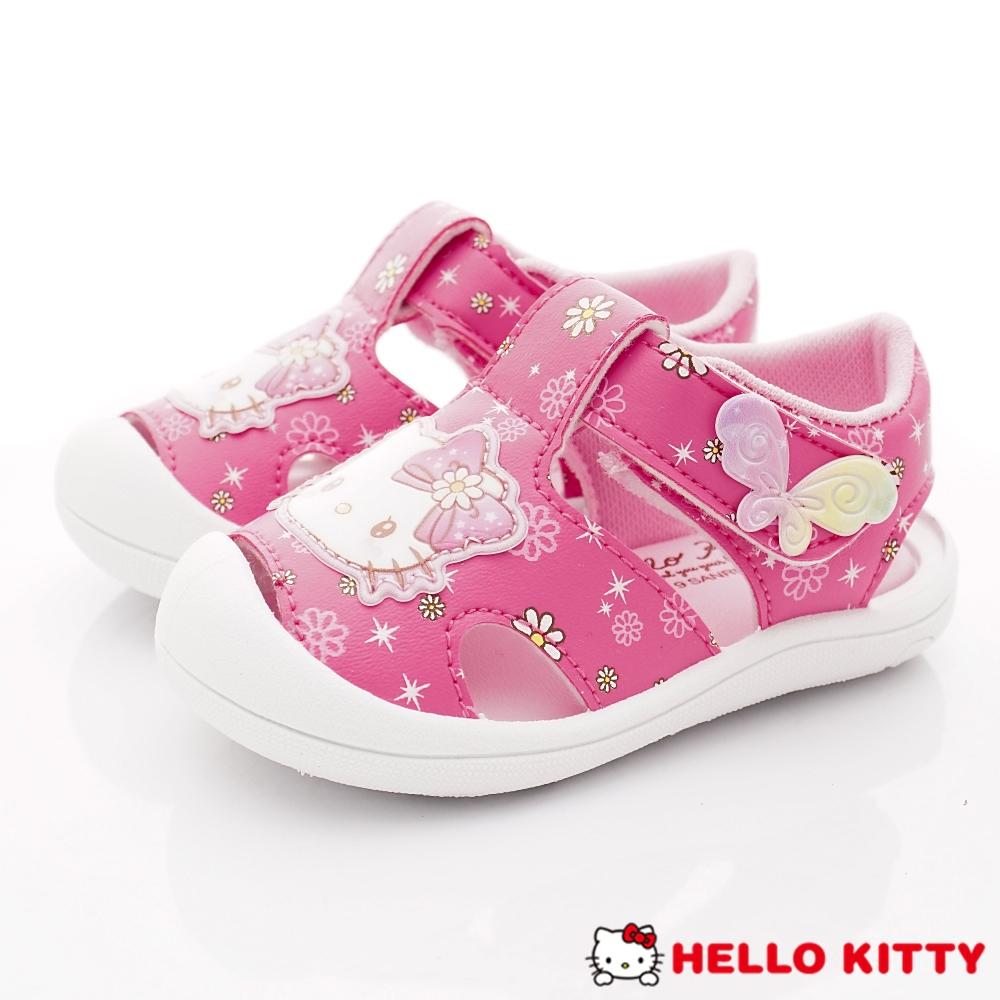 HelloKitty童鞋 護趾繽紛蝴蝶涼鞋款 EI19212桃(小童段)