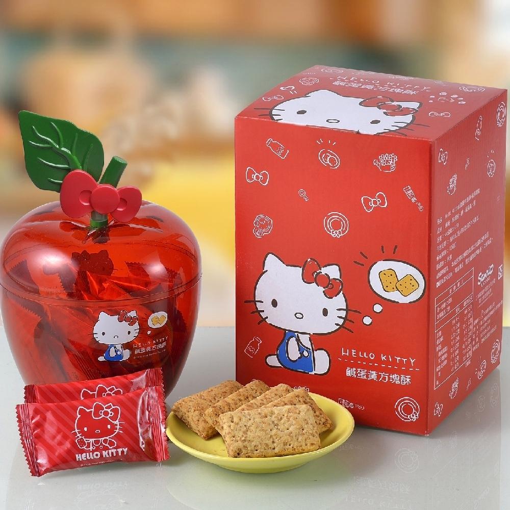 Hello Kitty 老楊鹹蛋黃方塊酥 蘋果造型禮盒